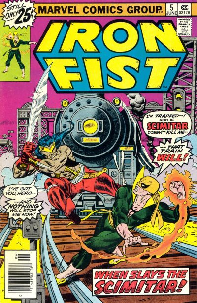 Cover for Iron Fist (Marvel, 1975 series) #5 [25¢ Cover Price]