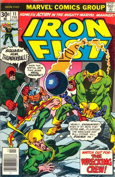 Cover for Iron Fist (Marvel, 1975 series) #11