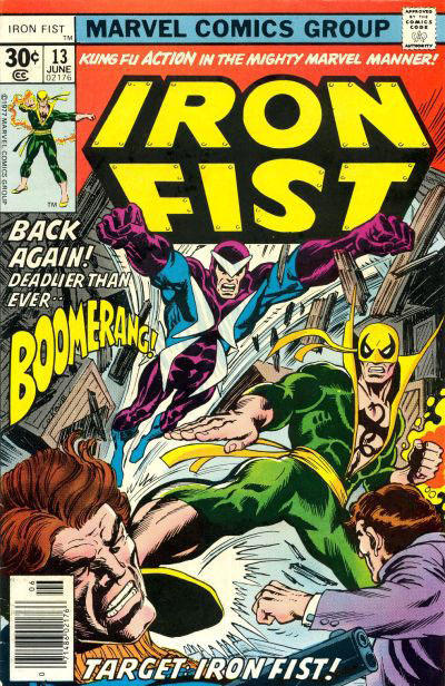 Cover for Iron Fist (Marvel, 1975 series) #13 [35 cent cover price variant]