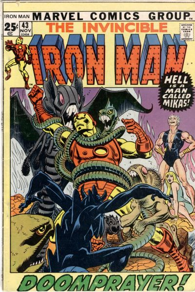 Cover for Iron Man (Marvel, 1968 series) #43