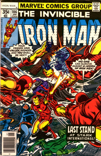 Cover for Iron Man (Marvel, 1968 series) #106