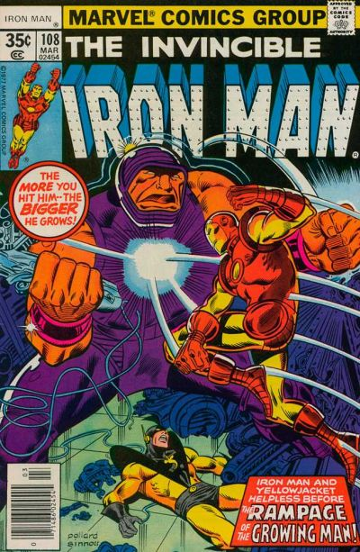 Cover for Iron Man (Marvel, 1968 series) #108