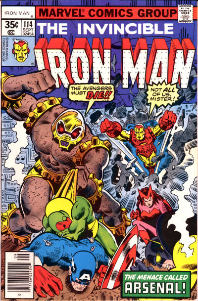 Cover for Iron Man (Marvel, 1968 series) #114