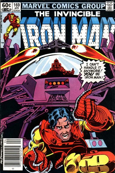 Cover for Iron Man (Marvel, 1968 series) #169 [Newsstand]