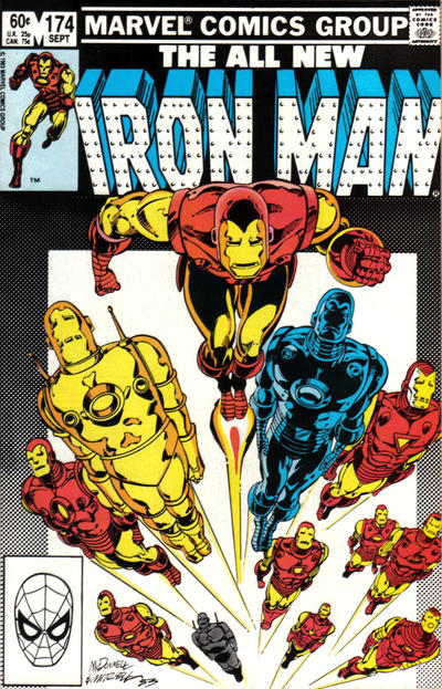Cover for Iron Man (Marvel, 1968 series) #174 [Direct Edition]