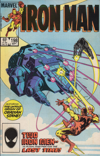 Cover for Iron Man (Marvel, 1968 series) #198 [Direct Edition]