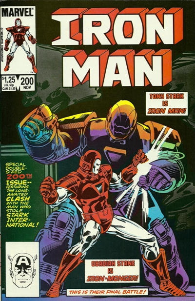 Cover for Iron Man (Marvel, 1968 series) #200 [Direct Edition]