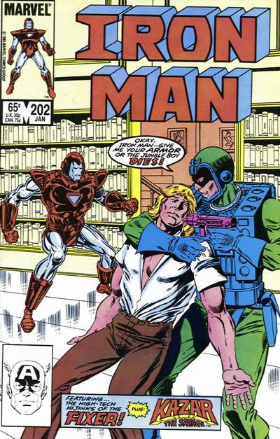 Cover for Iron Man (Marvel, 1968 series) #202 [Direct Edition]