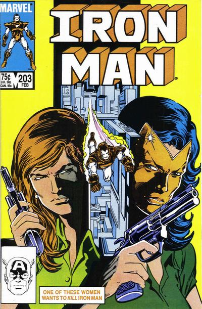 Cover for Iron Man (Marvel, 1968 series) #203 [Newsstand]