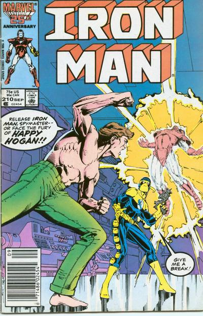 Cover for Iron Man (Marvel, 1968 series) #210 [Newsstand Edition]