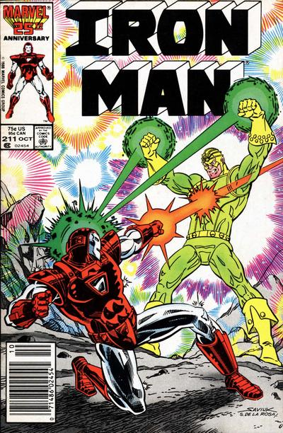 Cover for Iron Man (Marvel, 1968 series) #211 [Newsstand Edition]