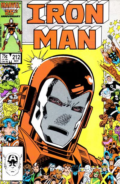 Cover for Iron Man (Marvel, 1968 series) #212 [Direct Edition]