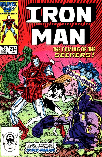 Cover for Iron Man (Marvel, 1968 series) #214 [Newsstand Edition]