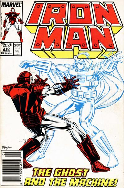 Cover for Iron Man (Marvel, 1968 series) #219 [Direct Edition]