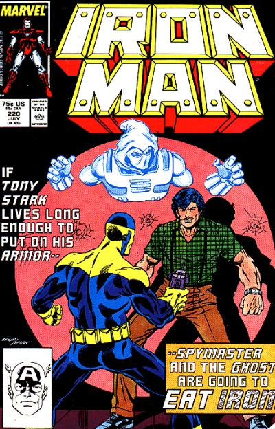 Cover for Iron Man (Marvel, 1968 series) #220 [Newsstand Edition]