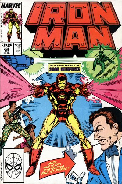 Cover for Iron Man (Marvel, 1968 series) #235 [Newsstand]