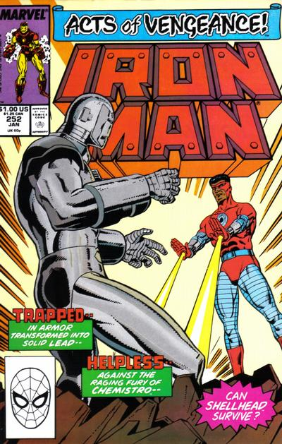 Cover for Iron Man (Marvel, 1968 series) #252 [Direct Edition]