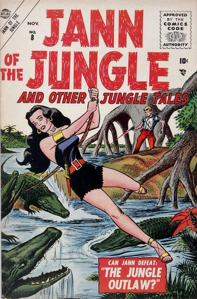 Cover for Jann of the Jungle (Marvel, 1955 series) #8