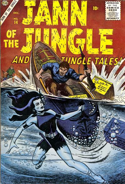 Cover for Jann of the Jungle (Marvel, 1955 series) #14