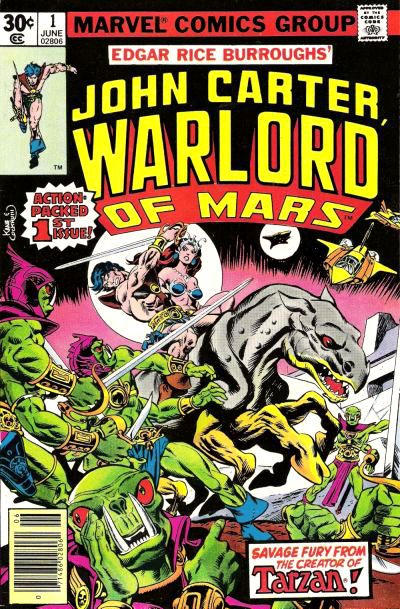 Cover for John Carter Warlord of Mars (Marvel, 1977 series) #1 [30 cent cover price]