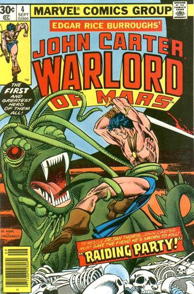 Cover for John Carter Warlord of Mars (Marvel, 1977 series) #4 [35¢]
