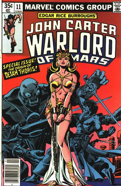 Cover for John Carter Warlord of Mars (Marvel, 1977 series) #11