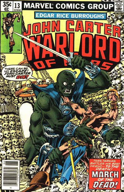 Cover for John Carter Warlord of Mars (Marvel, 1977 series) #13