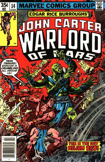 Cover for John Carter Warlord of Mars (Marvel, 1977 series) #14