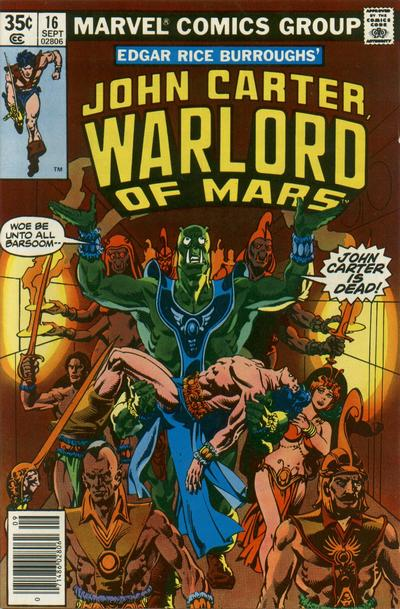 Cover for John Carter Warlord of Mars (Marvel, 1977 series) #16