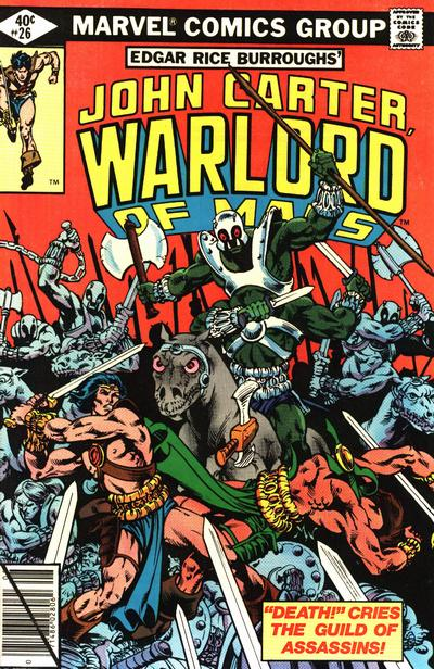 Cover for John Carter Warlord of Mars (Marvel, 1977 series) #26