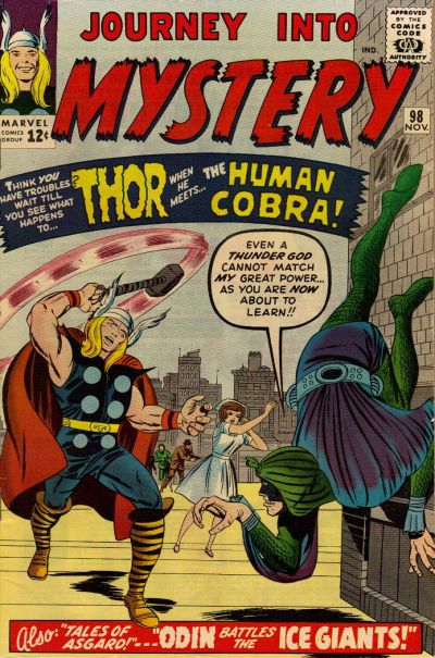 Cover for Journey into Mystery (Marvel, 1952 series) #98