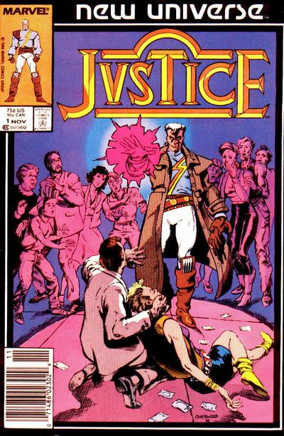 Cover for Justice (Marvel, 1986 series) #1 [Newsstand]
