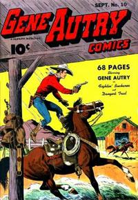 Cover Thumbnail for Gene Autry Comics (Fawcett, 1941 series) #10