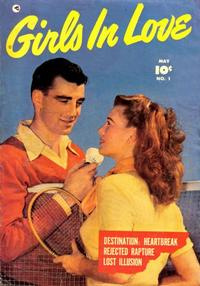 Cover Thumbnail for Girls in Love (Fawcett, 1950 series) #1
