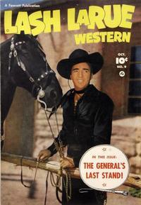 Cover Thumbnail for Lash LaRue Western (Fawcett, 1949 series) #9
