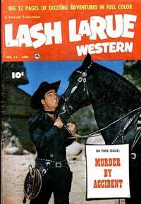 Cover Thumbnail for Lash LaRue Western (Fawcett, 1949 series) #12
