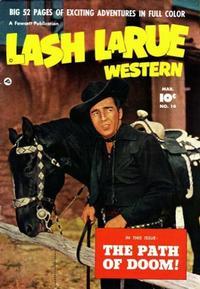 Cover Thumbnail for Lash LaRue Western (Fawcett, 1949 series) #14