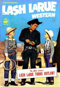 Cover Thumbnail for Lash LaRue Western (Fawcett, 1949 series) #17
