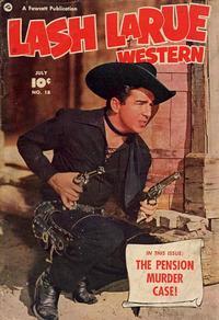 Cover Thumbnail for Lash LaRue Western (Fawcett, 1949 series) #18