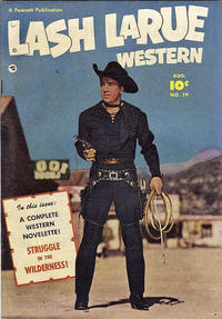 Cover Thumbnail for Lash Larue Western (Fawcett, 1949 series) #19