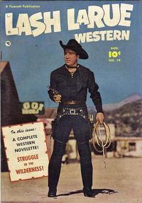 Cover Thumbnail for Lash LaRue Western (Fawcett, 1949 series) #19