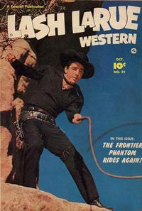 Cover Thumbnail for Lash LaRue Western (Fawcett, 1949 series) #21