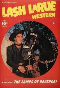 Cover Thumbnail for Lash LaRue Western (Fawcett, 1949 series) #22