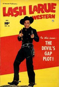 Cover Thumbnail for Lash LaRue Western (Fawcett, 1949 series) #23