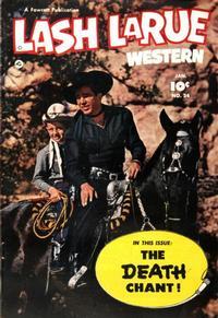 Cover Thumbnail for Lash LaRue Western (Fawcett, 1949 series) #24