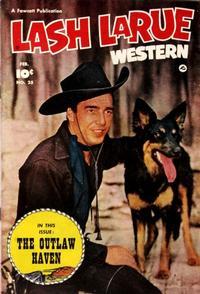 Cover Thumbnail for Lash LaRue Western (Fawcett, 1949 series) #25