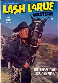 Cover Thumbnail for Lash LaRue Western (Fawcett, 1949 series) #26