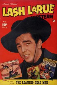 Cover Thumbnail for Lash LaRue Western (Fawcett, 1949 series) #28
