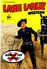 Cover Thumbnail for Lash LaRue Western (Fawcett, 1949 series) #29
