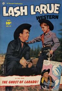 Cover Thumbnail for Lash LaRue Western (Fawcett, 1949 series) #31